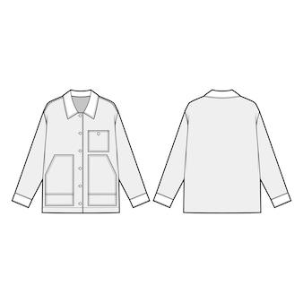 Midweight jacket fashion flats
