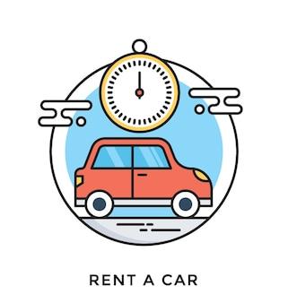 Miete ein auto wohnung vektor icon