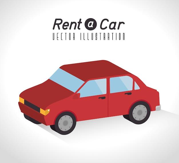 Mieten sie ein autodesign, vektorillustration.