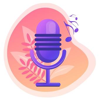 Mikrofon populäre musik populäre sängertour popmusikindustrie top-chart-künstler musikband