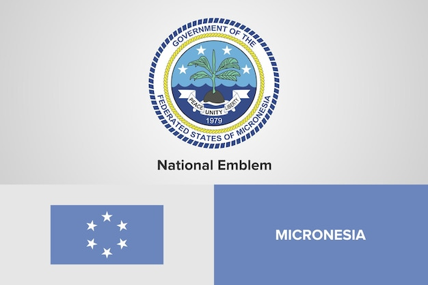Mikronesien national emblem flag vorlage