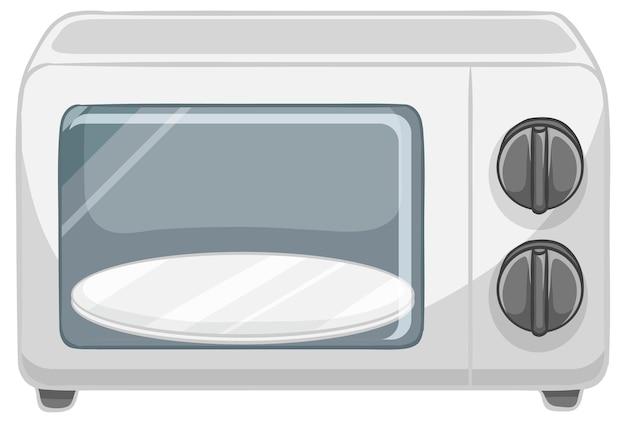 Mikrowelle isoliert auf weißem hintergrund