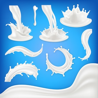 Milch splash set