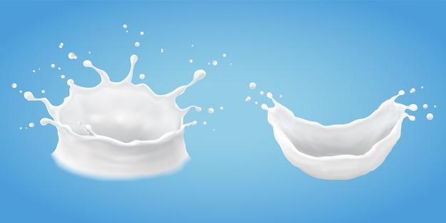 Milch spritzen und gießen
