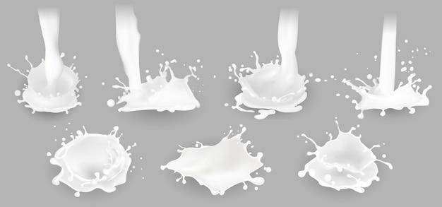 Milch spritzt