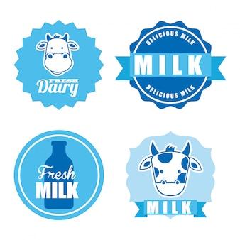 Milchdesign über weißer hintergrundvektorillustration