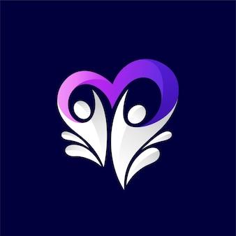 Milchliebhaber-logo mit menschenkonzept