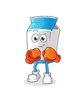 Milchpaket boxer charakter maskottchen