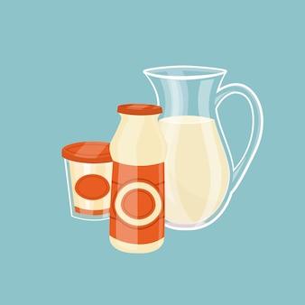 Milchprodukte isoliert