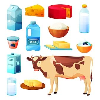 Milchprodukte und landwirtschaftliche lebensmittel