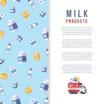 Milchproduktion poster vorlage