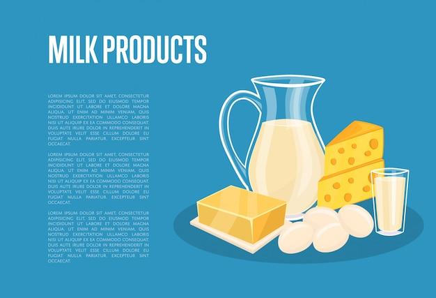 Milchproduktschablone mit molkereizusammensetzung