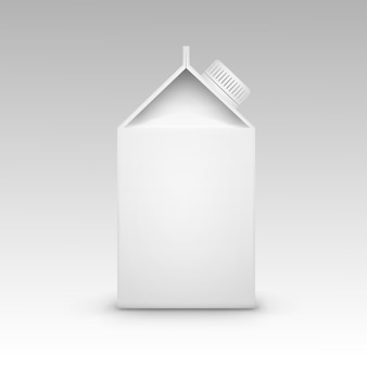 Milchsaftkarton verpackungsverpackung box white blank isolated vector