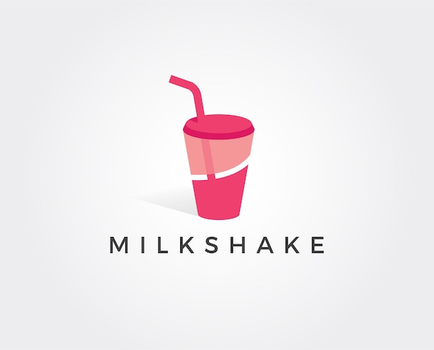Milchshake-logo-vorlage
