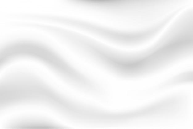 Milchweißer wellenhintergrund sieht weich aus wie ein schwankendes weißes tuch.