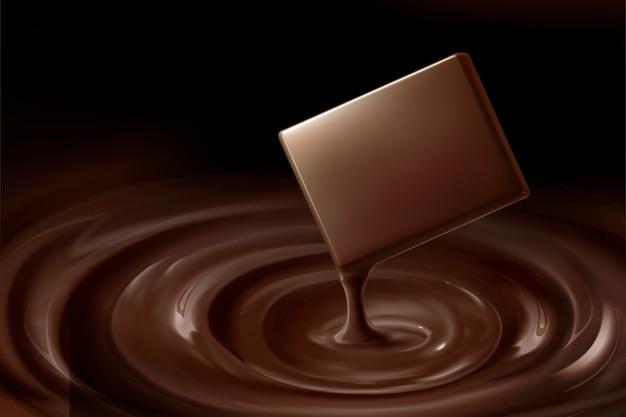 Milde schokolade und tropfende sauce