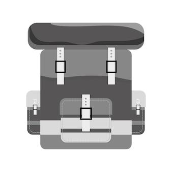 Militär-armee kontur bagpack symbol bild