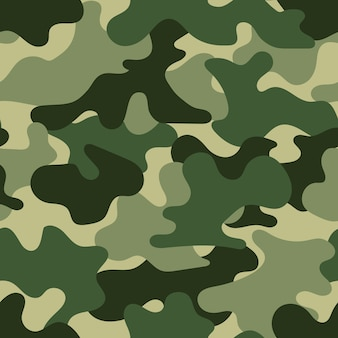 Militär nahtloses muster, illustration