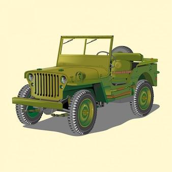 Militär retro auto