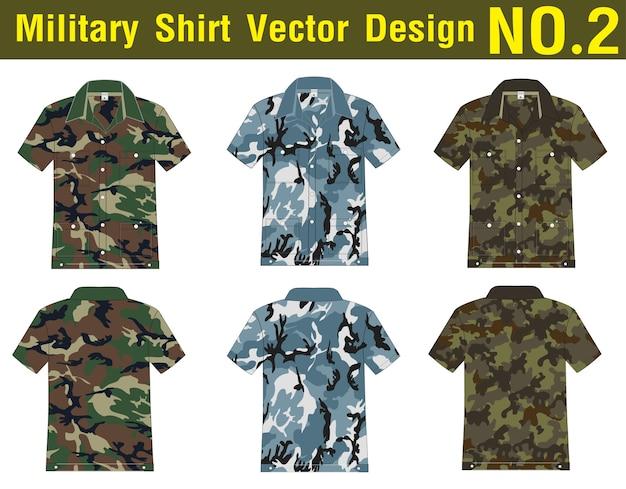 Militär shirt vektor vorlage