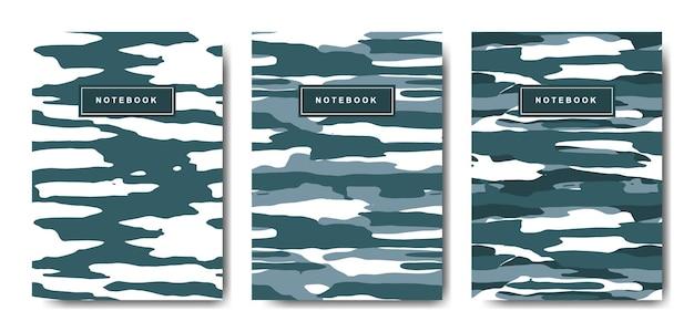 Militär- und armeetarnungs-notizbuch mit abstraktem cover