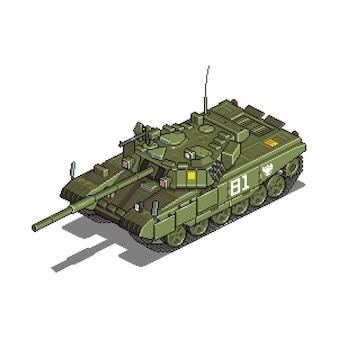 Militärfahrzeug für krieg pixel kunst spiel asset illustration