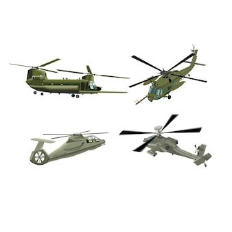 Militärische hubschrauberarmee militärflugzeuge