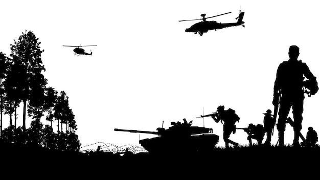 Militärische illustration, armeehintergrund.