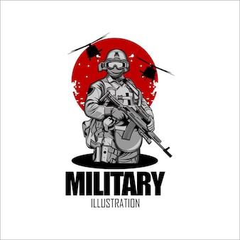 Militärische illustration