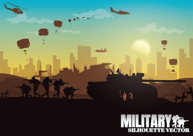 Militärische illustration.