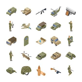 Militärische kräfte icons
