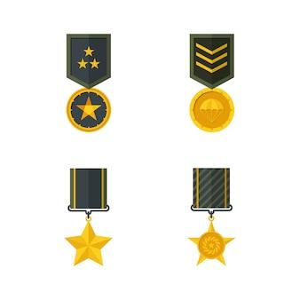Militärische medaillen illustration.
