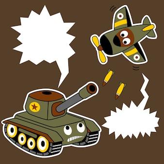 Militärische spielzeug-cartoon