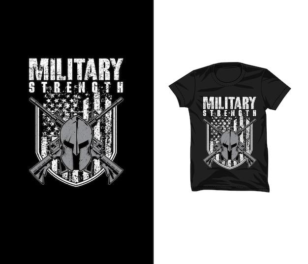 Militärische stärke t-shirt design