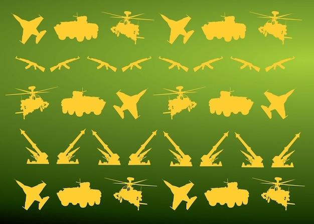 Militärische symbole muster