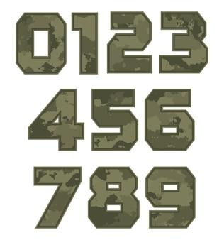 Militärische tarnnummern-set