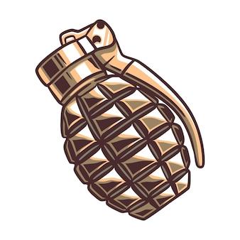 Militärisches handgranatenkonzept in farbe