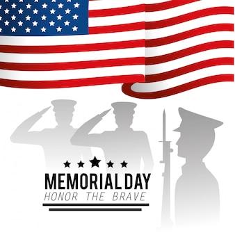 Militärs und usa kennzeichnen zum gedenktag