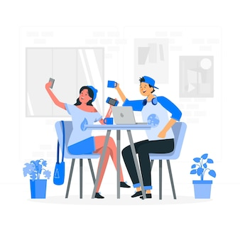 Millennial mädchen konzept illustration