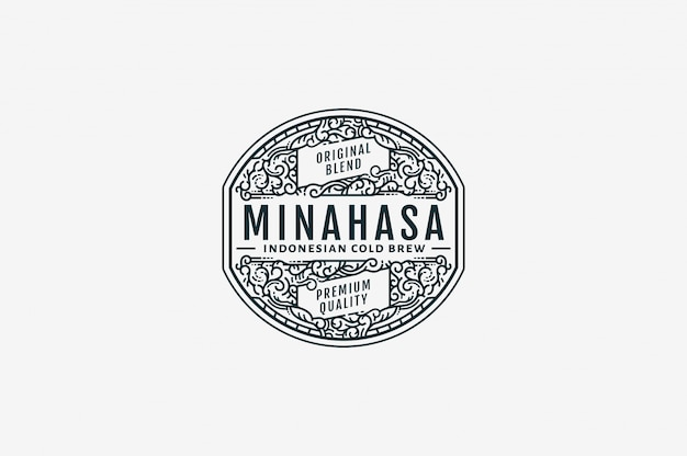 Minahasa kalter gebräu-kaffee bw