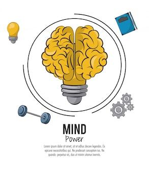 Mind power und gehirn vorlage