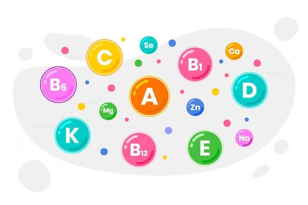 Mineralkomplex und essentielle vitamine