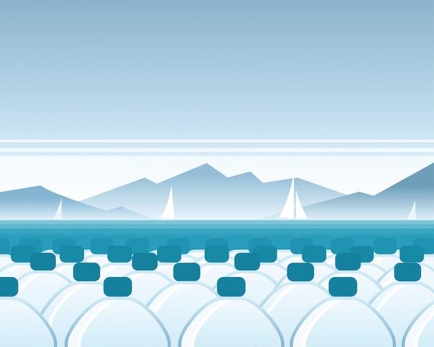 Mineralwasser meer szene