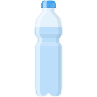 Mineralwasser-vektor-plastikflasche illustration isolierte symbol