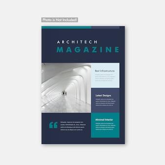 Minimal-architektur-broschüren- und zeitschriften-cover-design