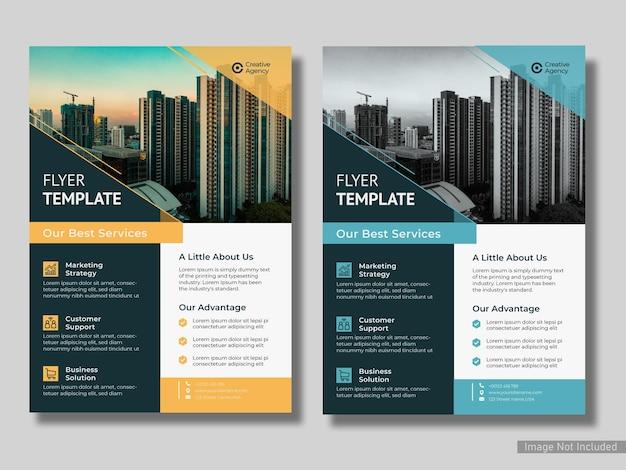 Minimal business corporate flyer design-vorlage