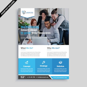 Minimal business flyer premium