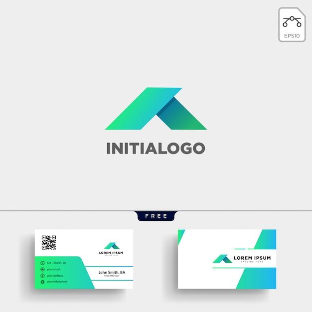 Minimal eine anfängliche logo-vorlage und eine visitenkarte
