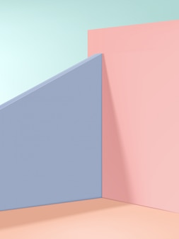 Minimal fashion & beauty produkt display hintergrund, beige, pink & lila.