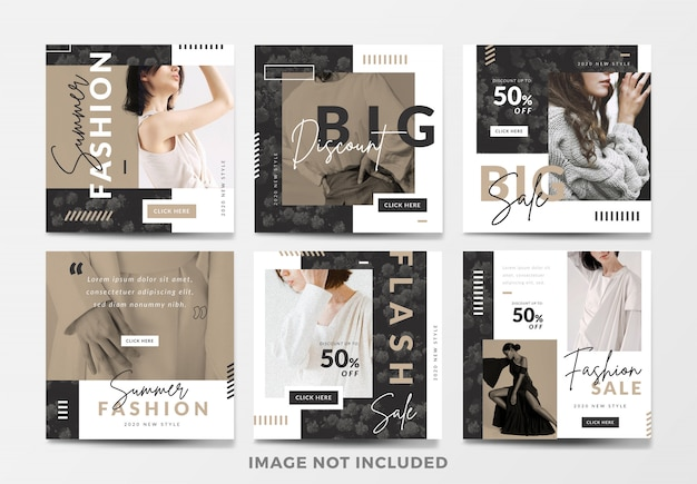 Minimal fashion sale square banne rset